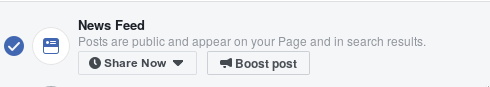 Posts will not show up in users timeline unless you pay for 'boost'